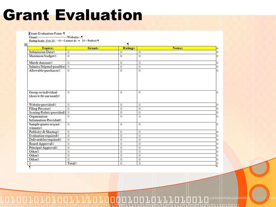 Grant Evaluation