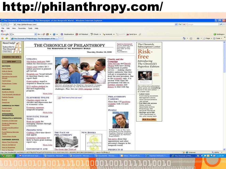 http://philanthropy.com/