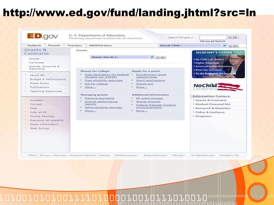 http://www.ed.gov/fund/landing.jhtml src=ln