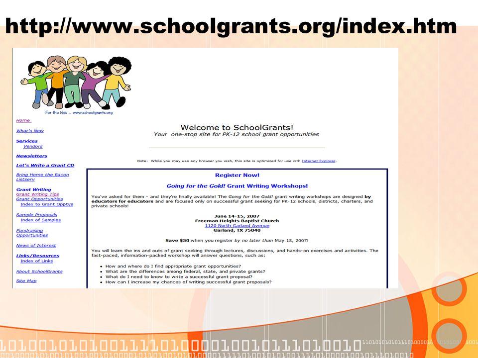 http://www.schoolgrants.org/index.htm