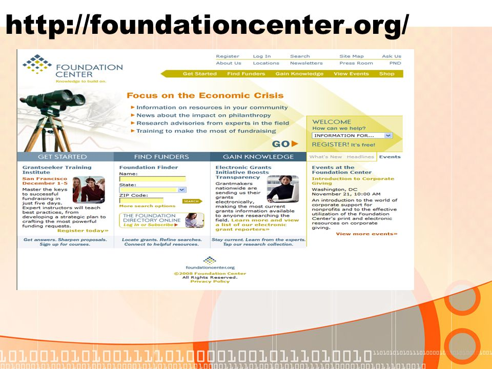 http://foundationcenter.org/