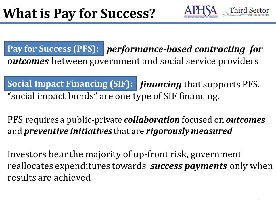 What is Pay for Success.