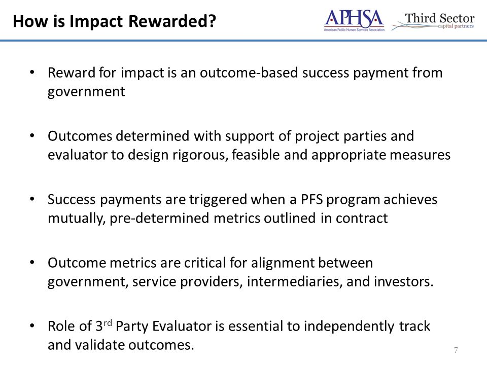 How is Impact Rewarded.