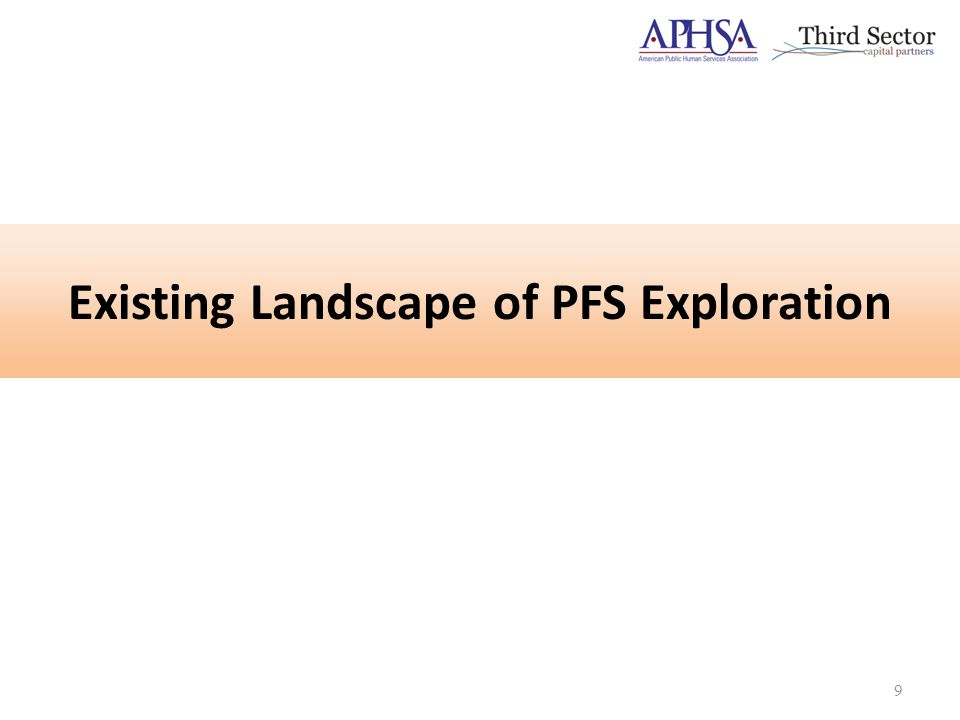 Existing Landscape of PFS Exploration 9