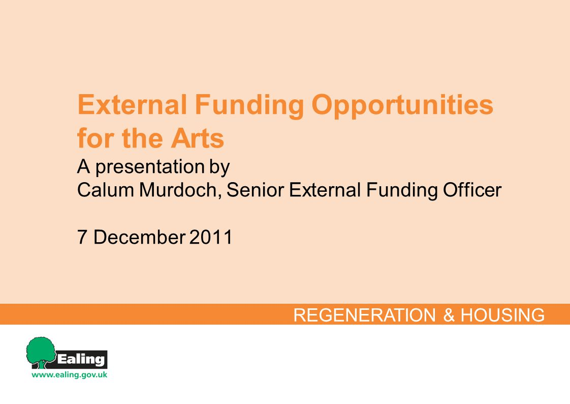 What is External Funding.