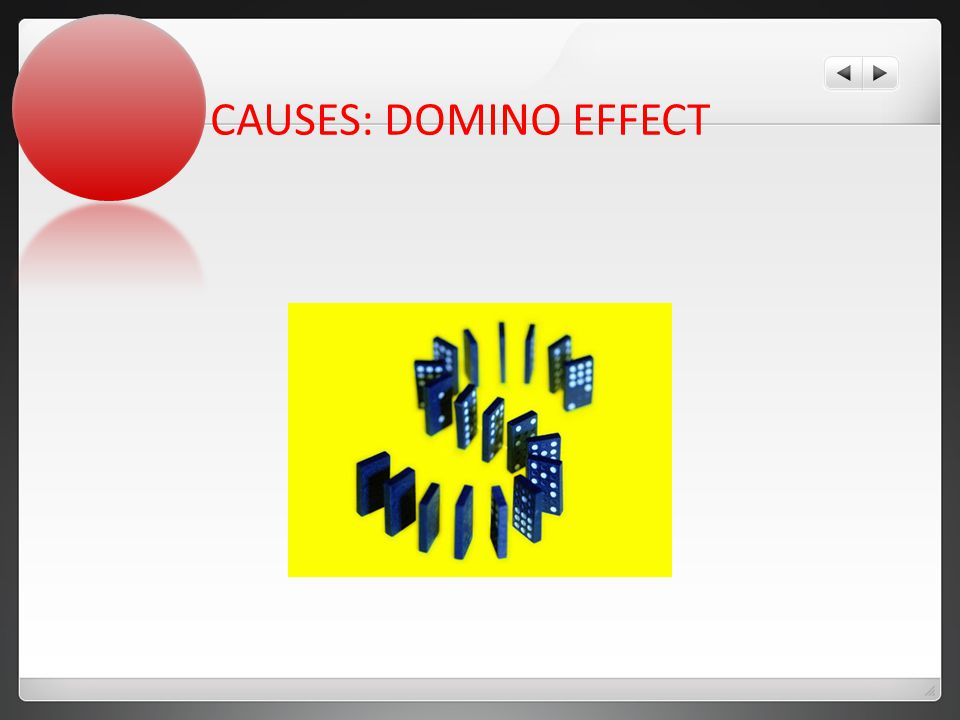 CAUSES: DOMINO EFFECT