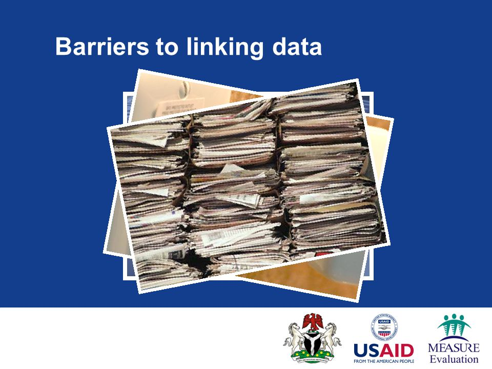 Barriers to linking data