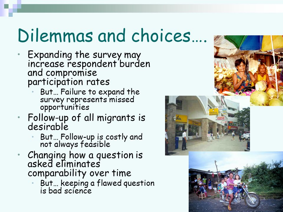 Dilemmas and choices….