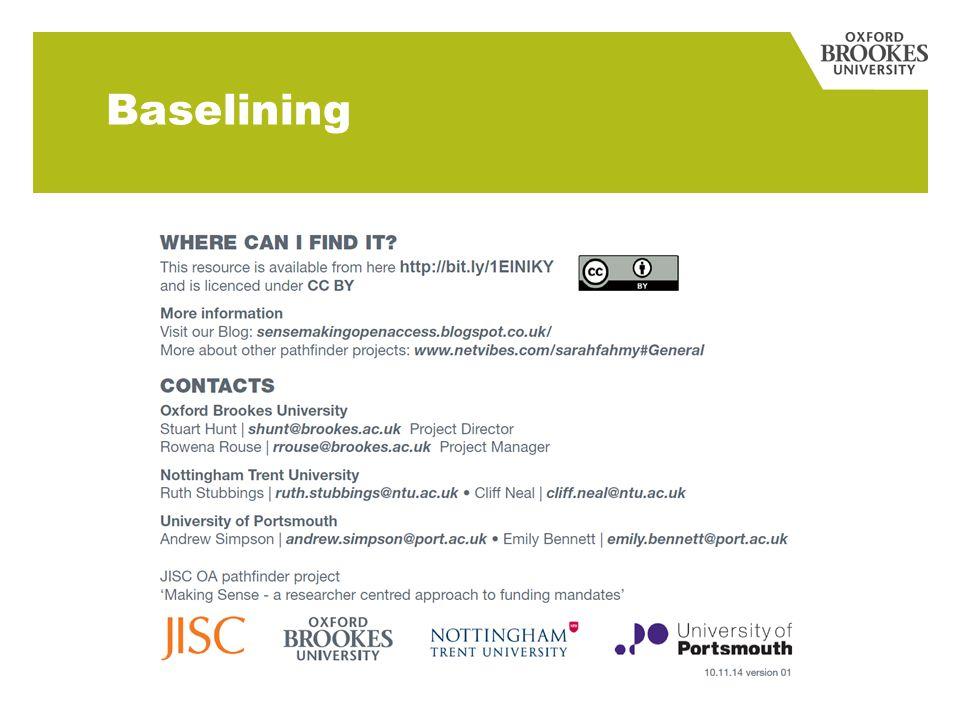 Baselining