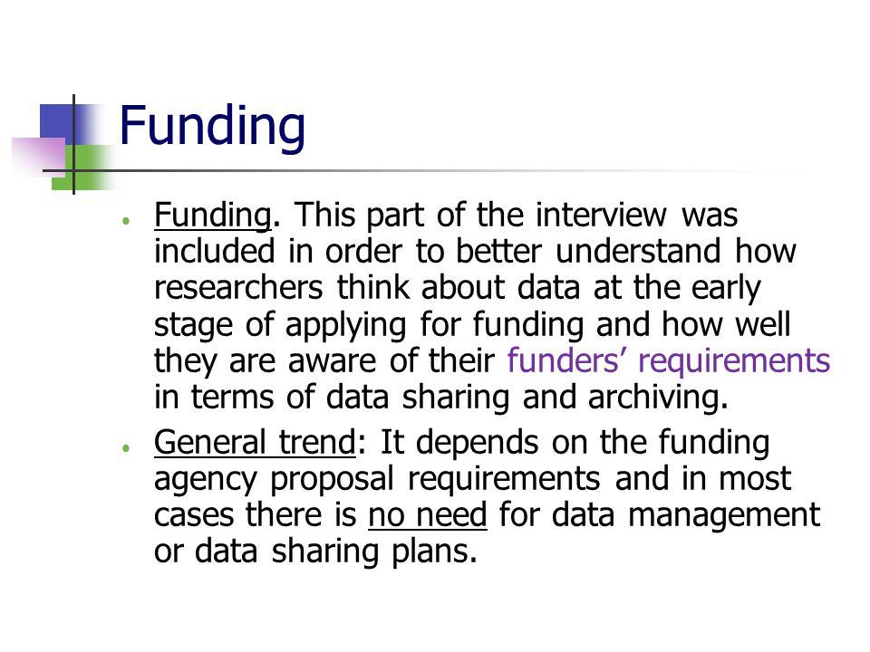 Funding  Funding.