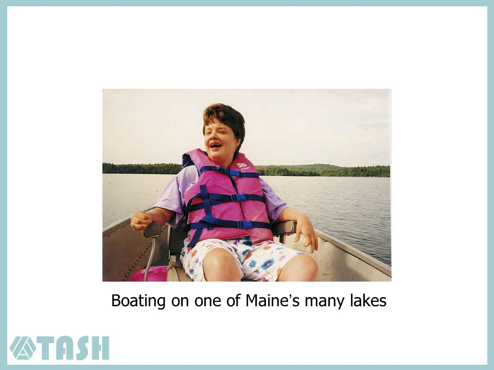 Boating on one of Maine's many lakes