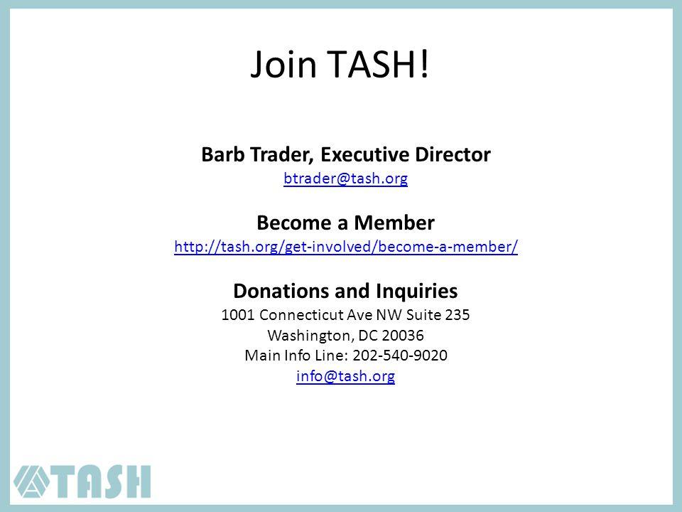 Join TASH.