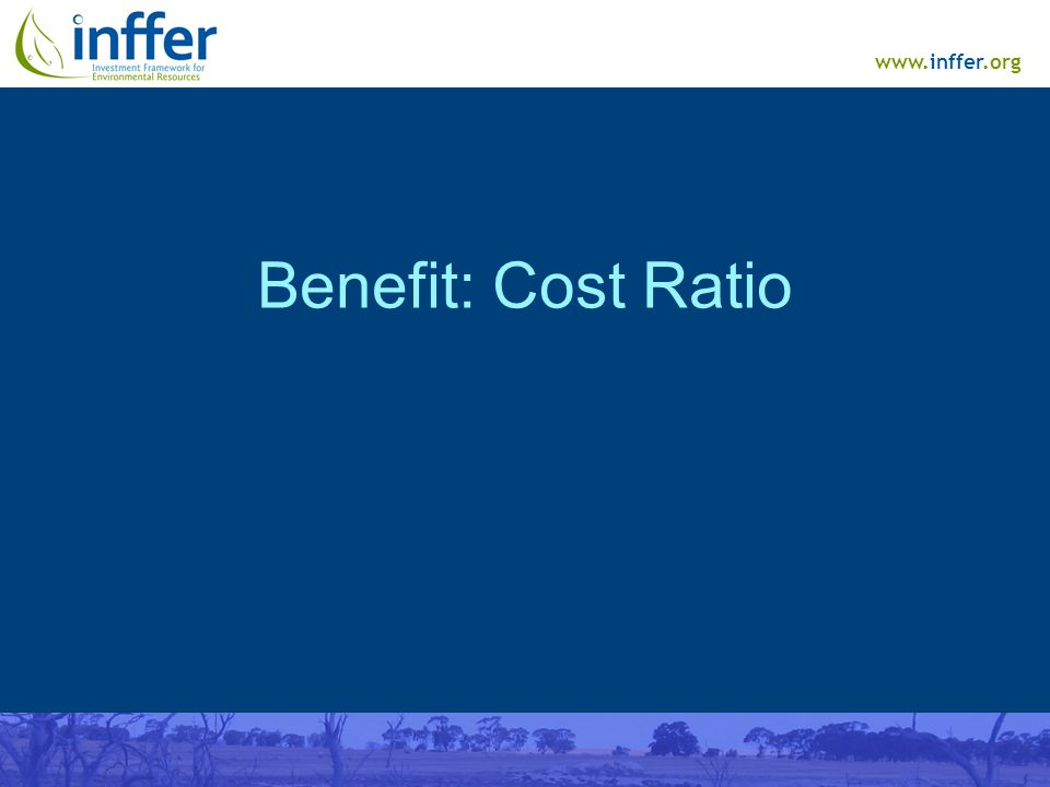 www.inffer.org Benefit: Cost Ratio