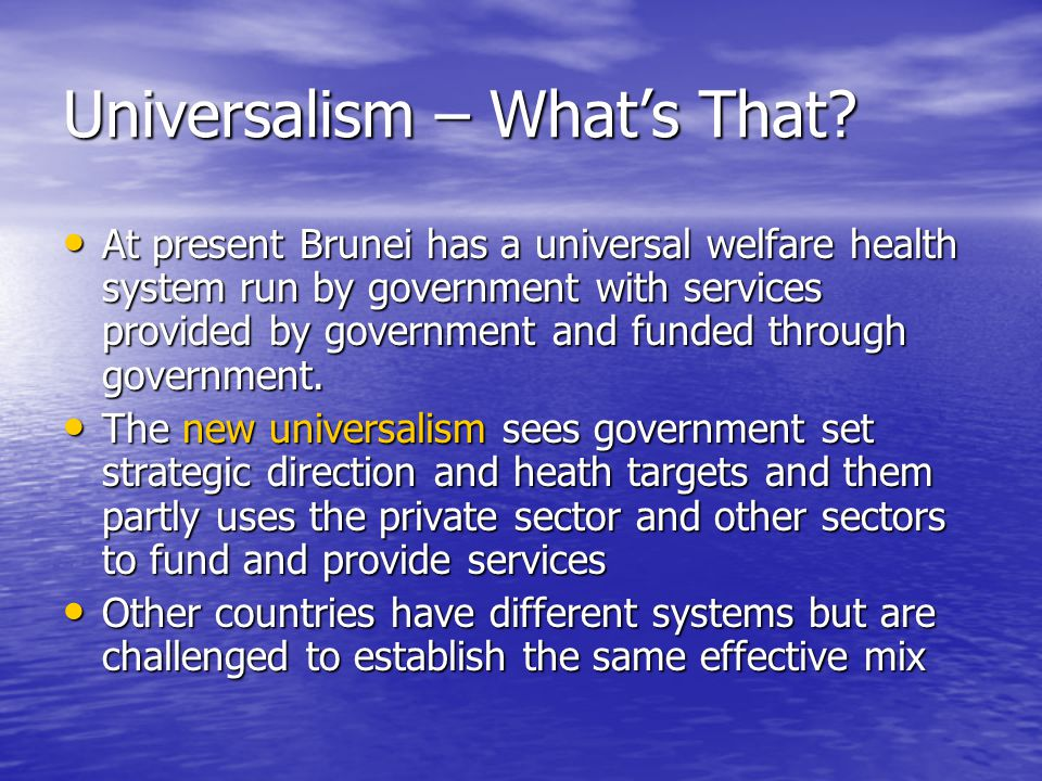 Universalism – What's That.