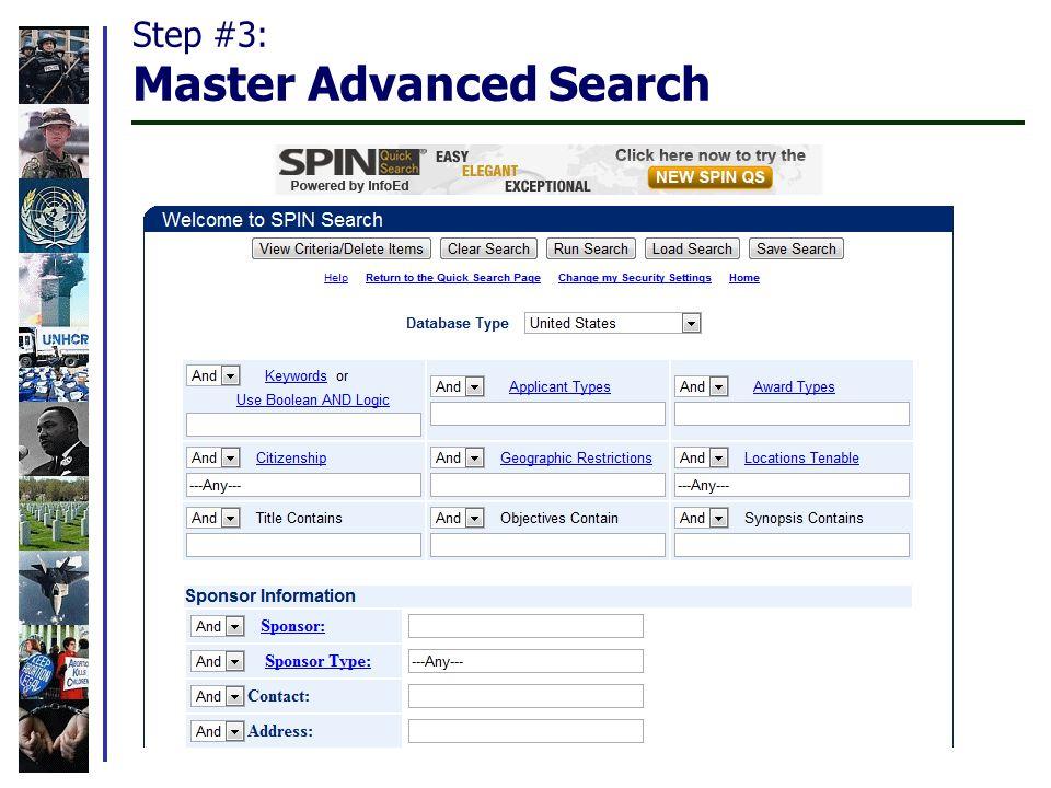 Step #3: Master Advanced Search