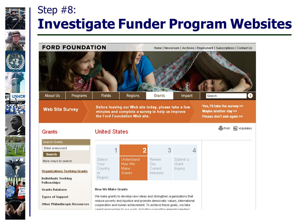 Step #8: Investigate Funder Program Websites