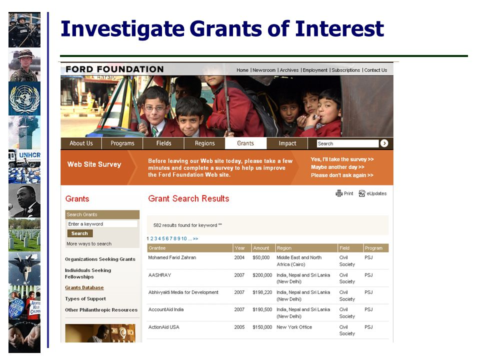 Investigate Grants of Interest