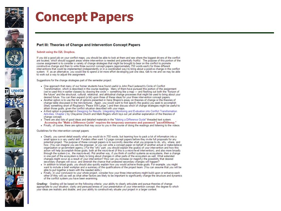 Concept Papers