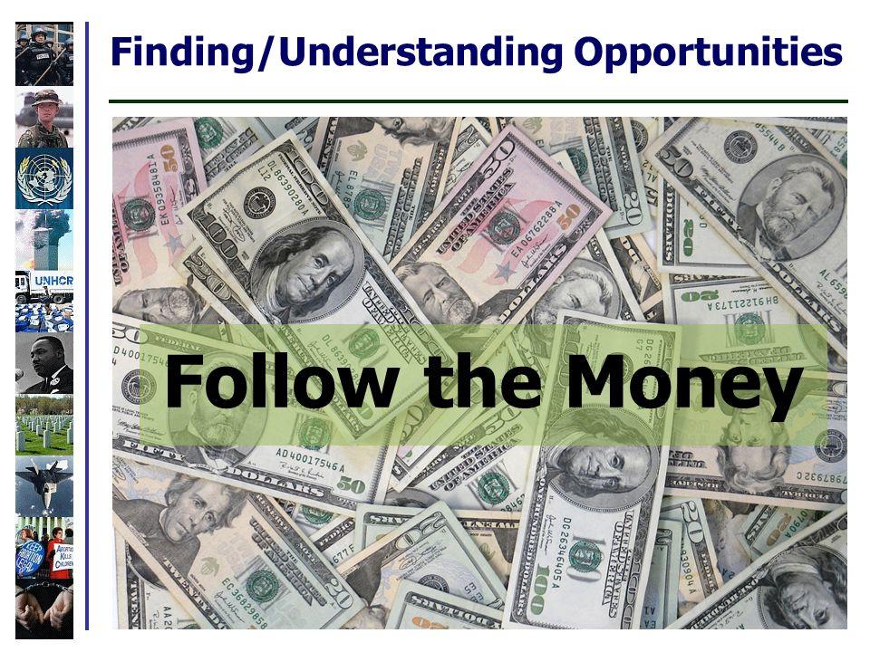 Finding/Understanding Opportunities Follow the Money