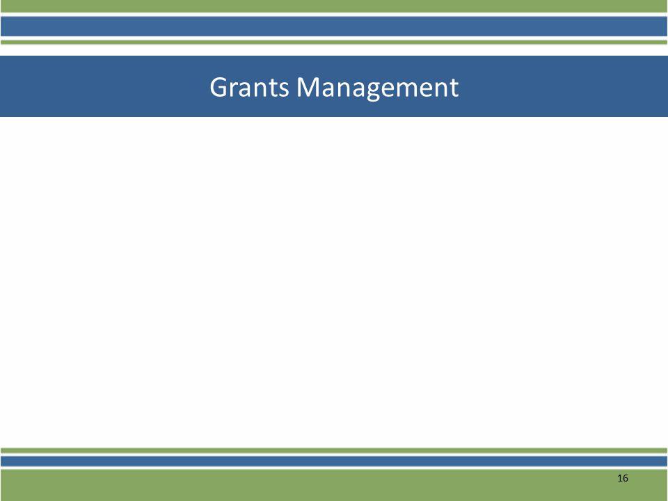 16 Grants Management