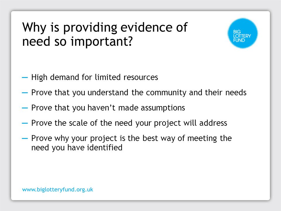 How much evidence do you need to provide.