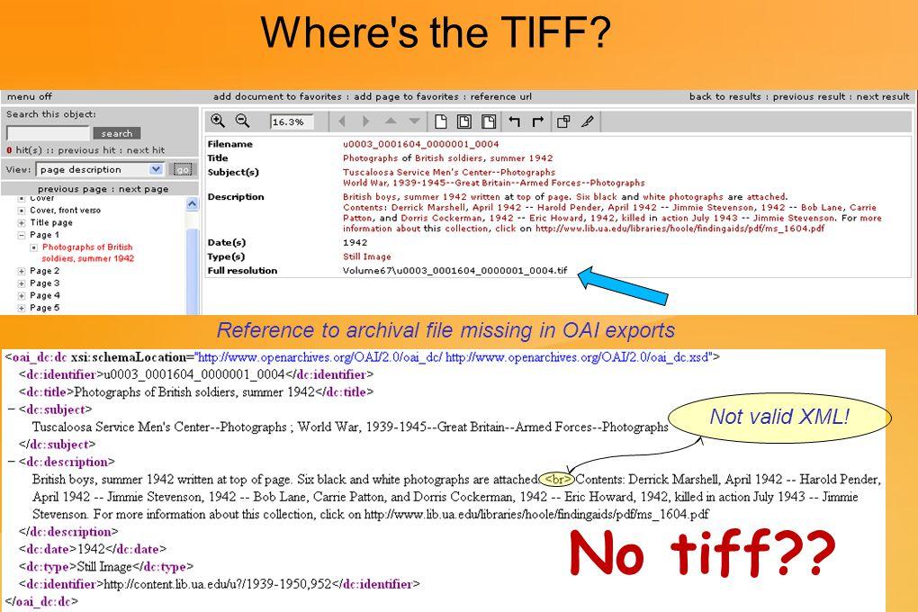 Again, Where s the TIFF.