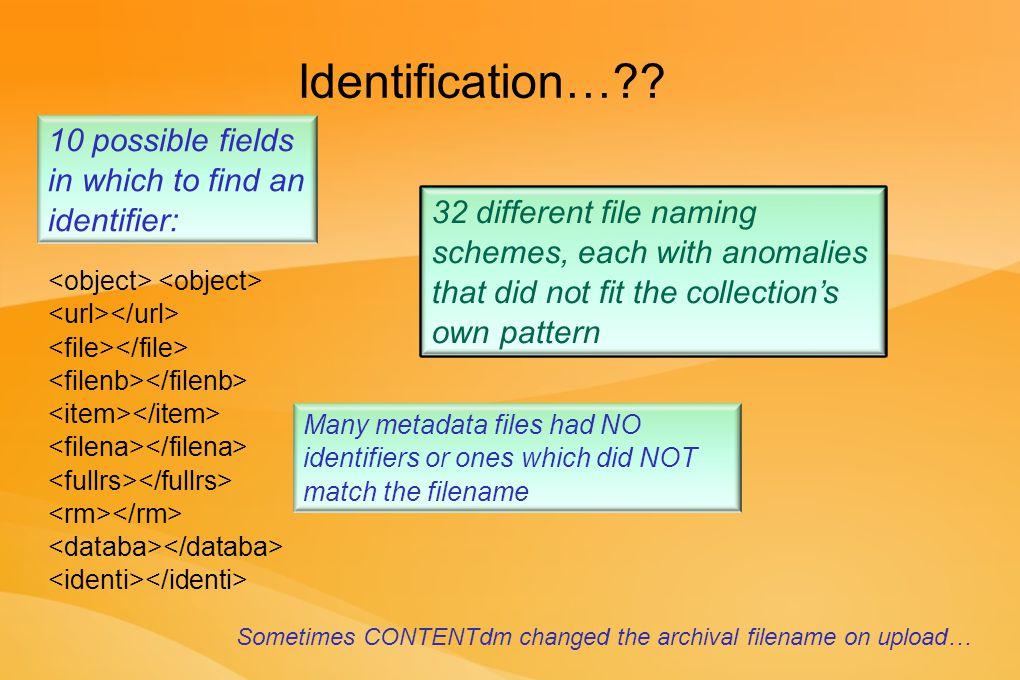 Identification… .
