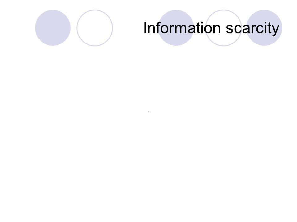 Information scarcity