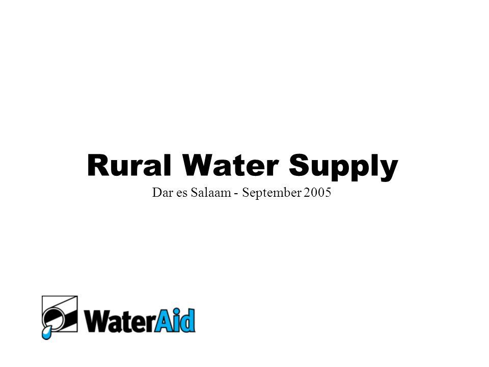 Rural Water Supply Dar es Salaam - September 2005