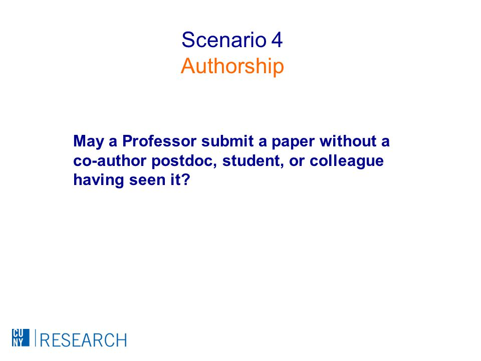 May a Professor submit a paper without a co-author postdoc, student, or colleague having seen it.