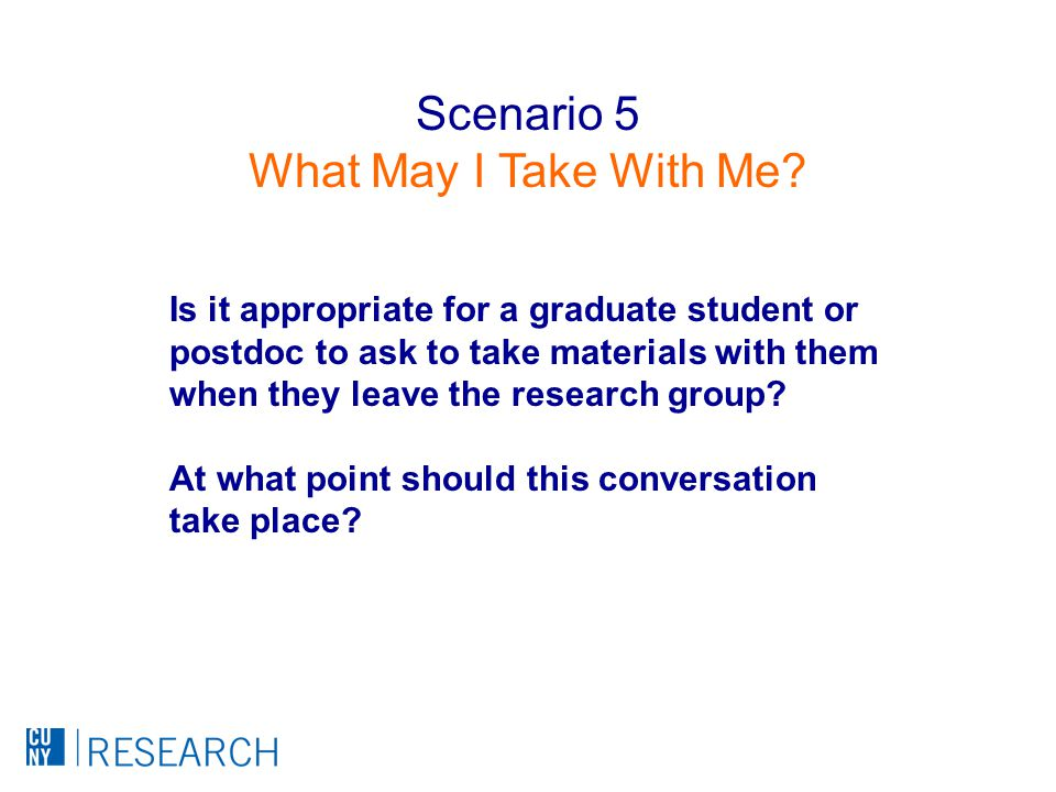 Is it appropriate for a graduate student or postdoc to ask to take materials with them when they leave the research group.