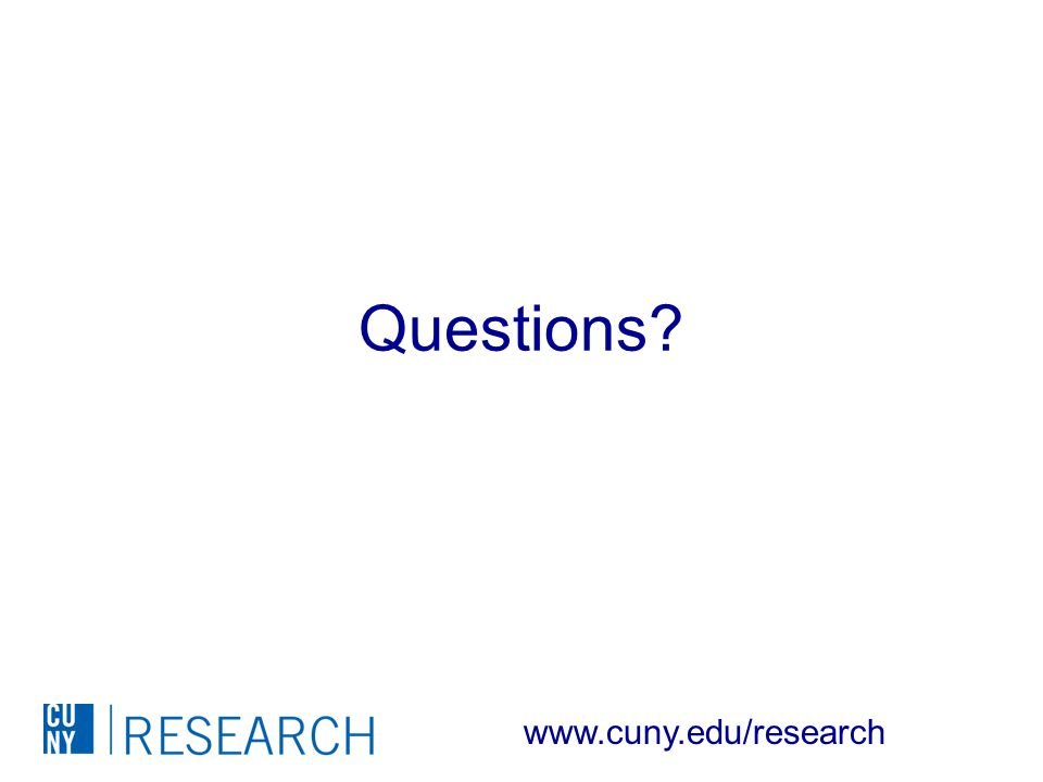 Questions www.cuny.edu/research