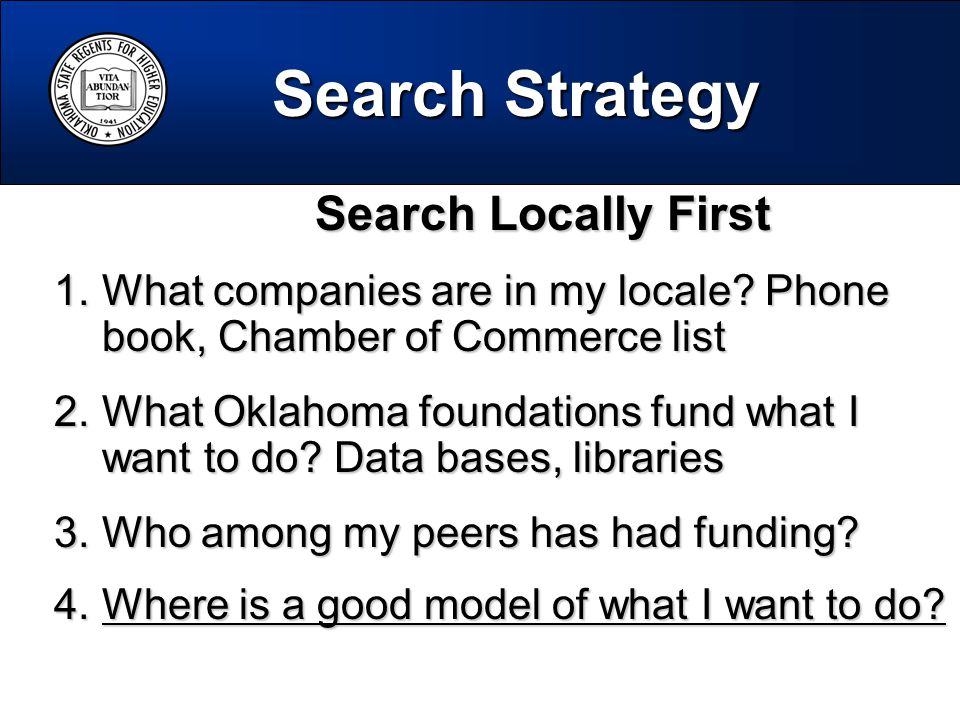 Search Locally First Search Locally First 1.What companies are in my locale.