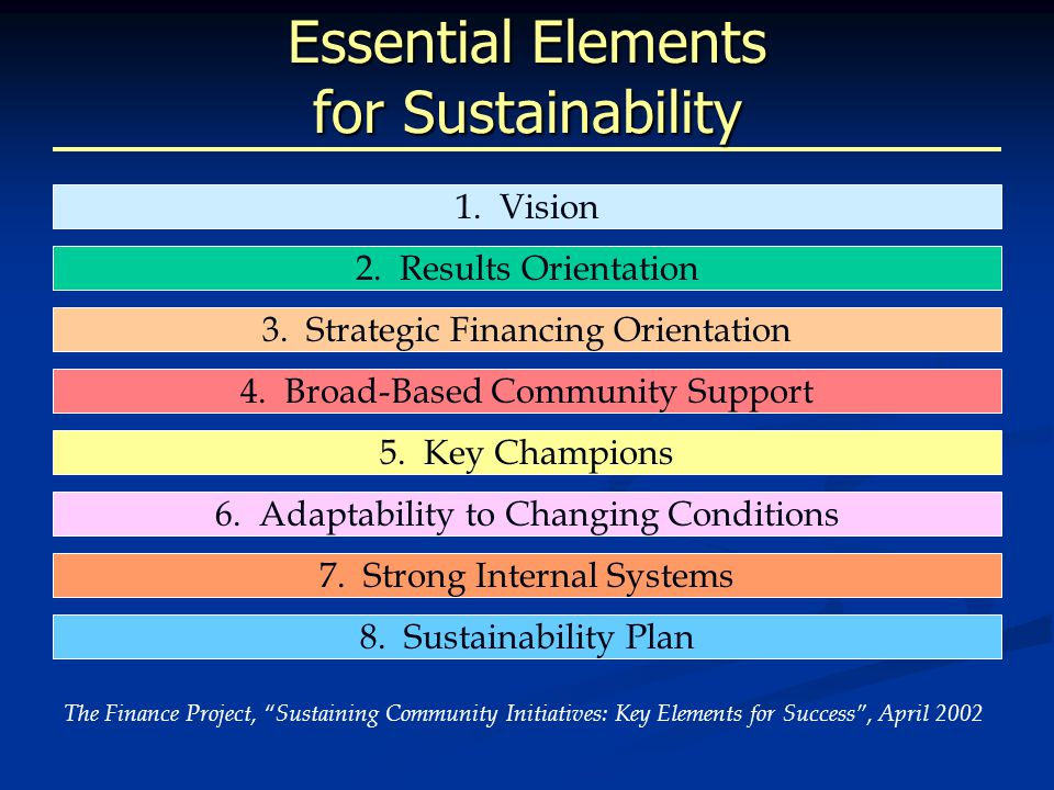 Non-Fiscal Dimensions of Sustainability: The California Wellness Foundation Leadership and governance Leadership and governance Human resources Human resources Service design and evaluation Service design and evaluation Knowledge management Knowledge management Niche Values Spirit Capacity Mission Mission Commitment and passion Commitment and passion Defined core values Defined core values Alignment of actions, systems, culture, etc.