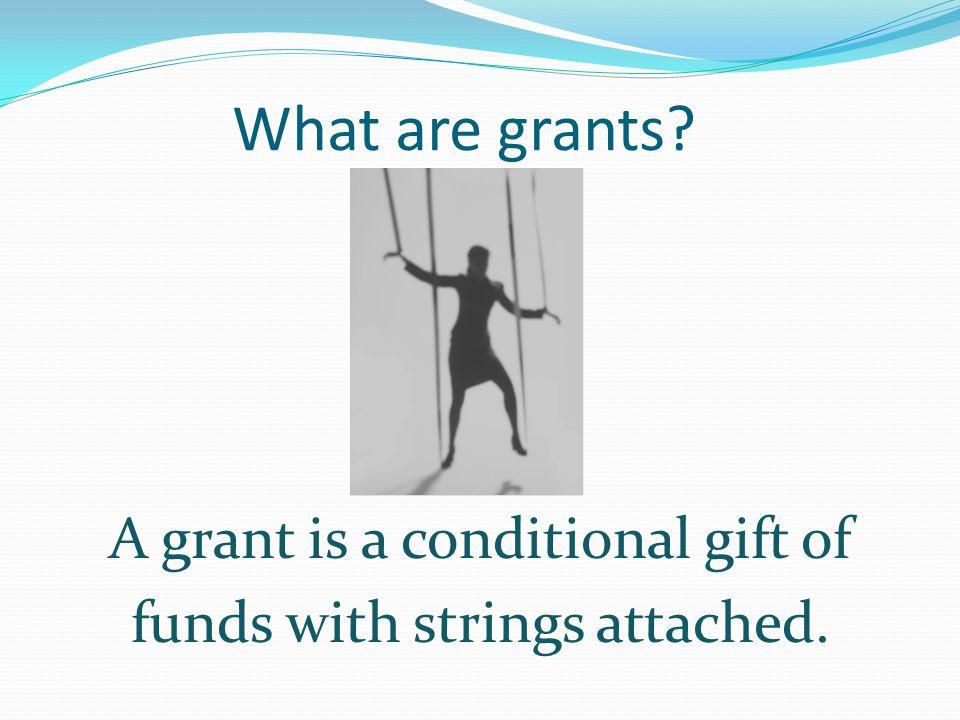 Why grants? ? ? ? ? ? ?? ? ? ? ? ? ? ? ?