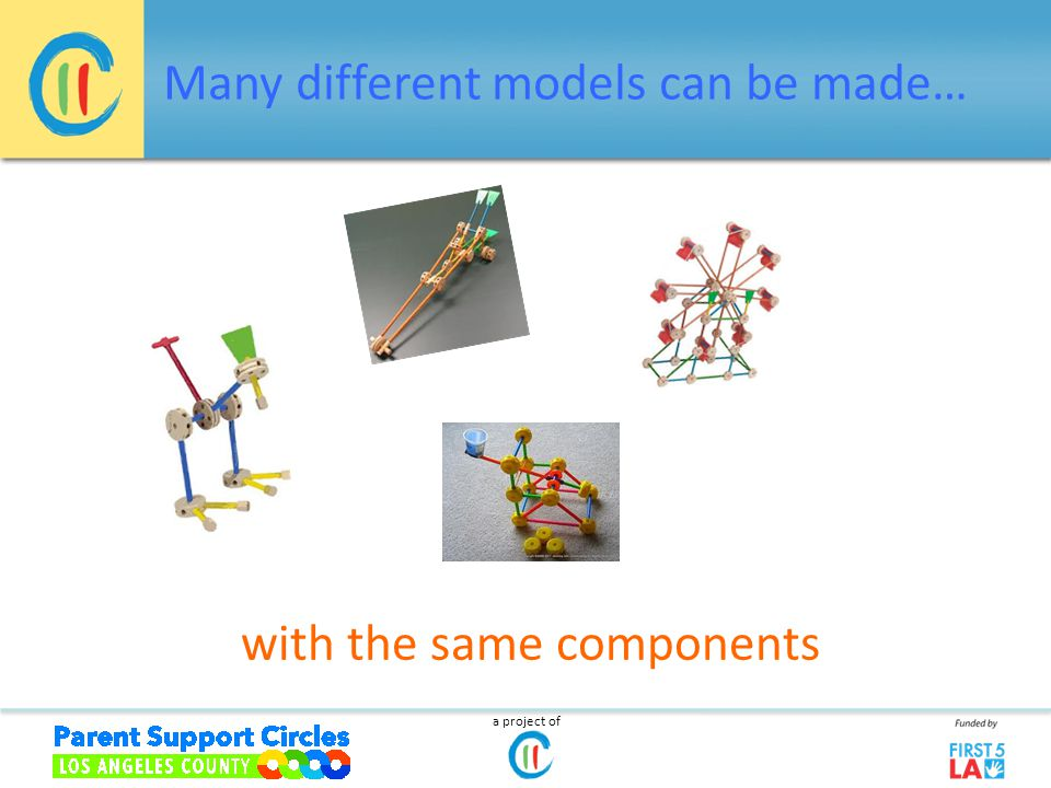 Many different models can be made… a project of with the same components