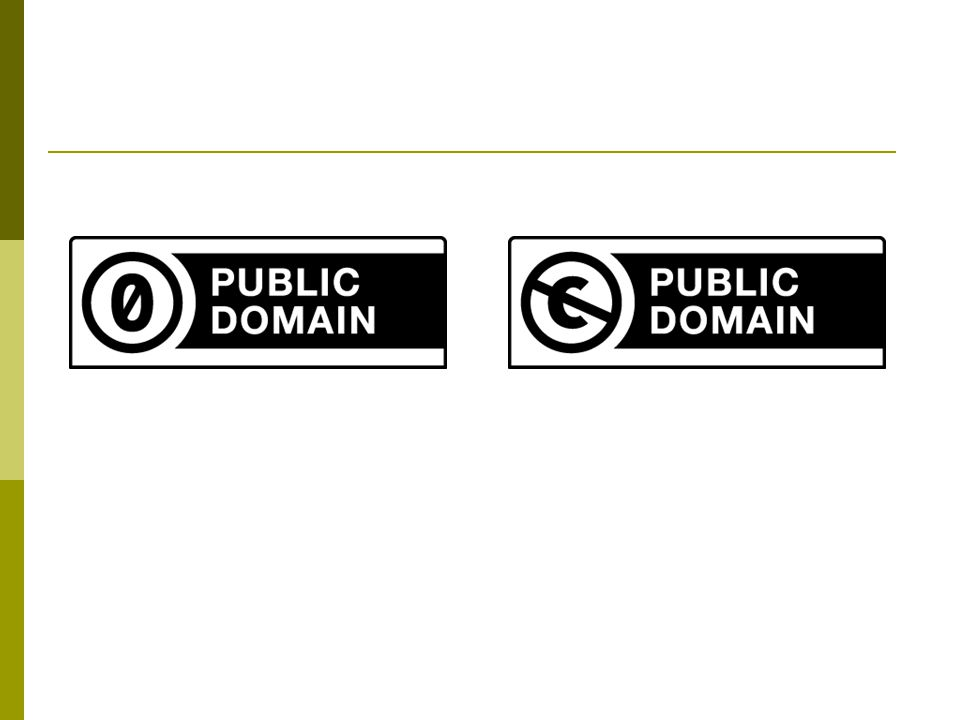 CC0 public domain dedication Public Domain Mark