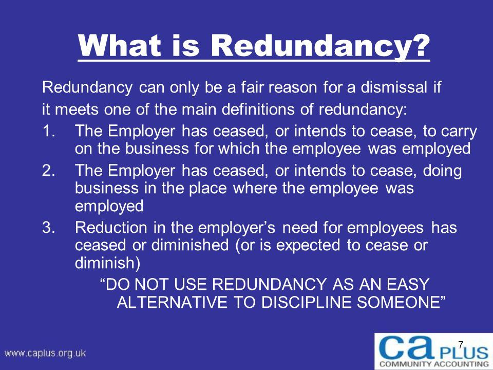 7 What is Redundancy.