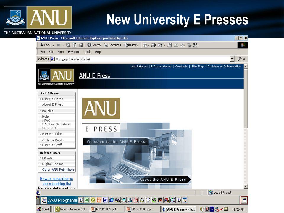 New University E Presses