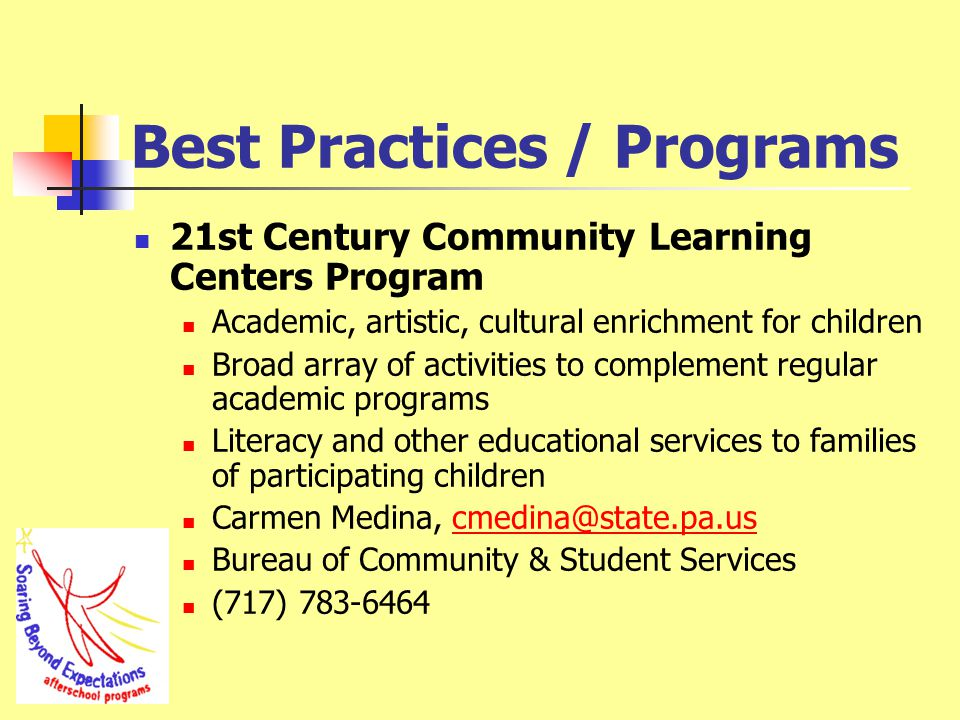 Best Practices / Programs Accountability Block Grant (ABG) Funds effective educational practices and initiatives to improve student achievement.