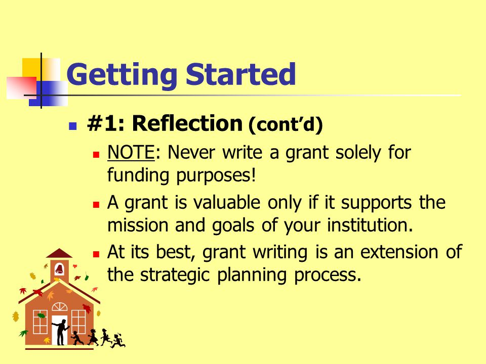 Getting Started #1: Reflection What does your school/district NEED.