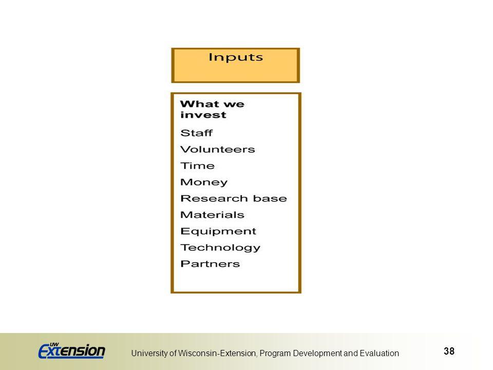 38 University of Wisconsin-Extension, Program Development and Evaluation