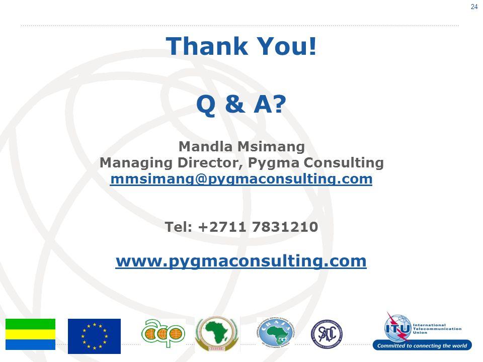 Thank You. Q & A.