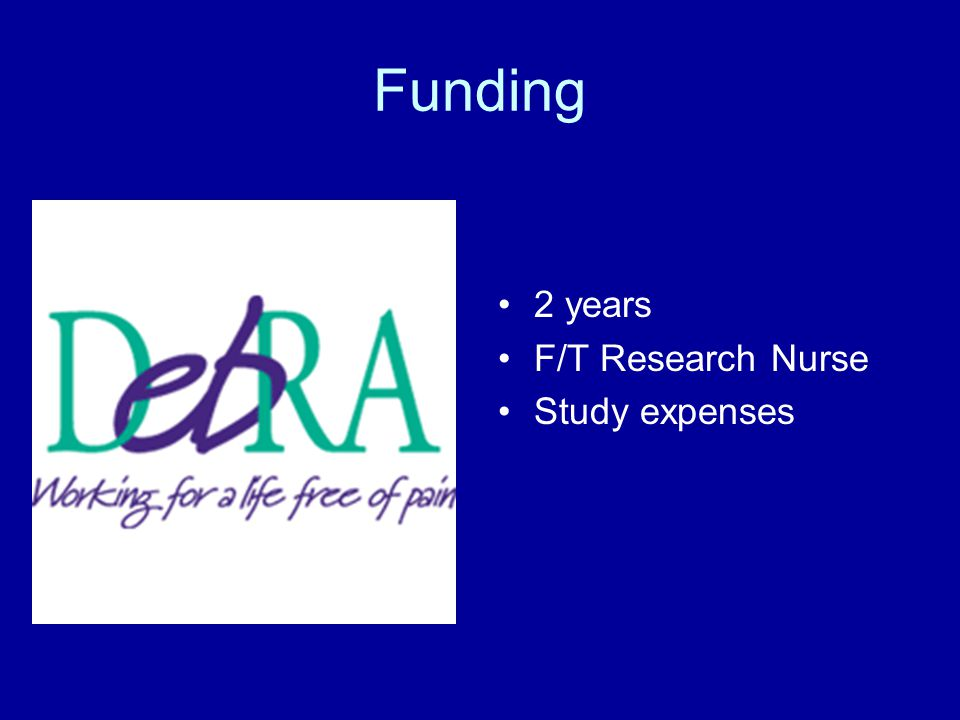 Funding 2 years F/T Research Nurse Study expenses