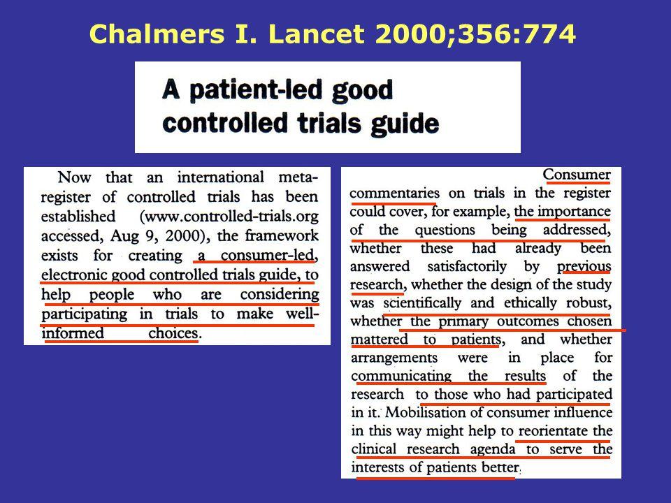 Chalmers I. Lancet 2000;356:774