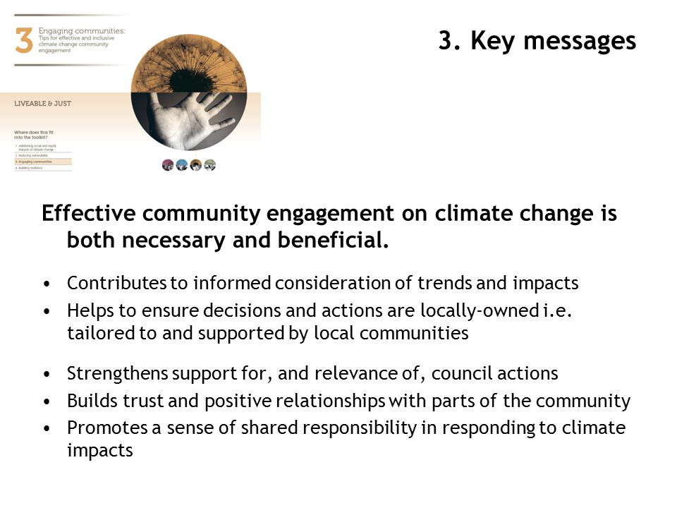 Effective community engagement on climate change is both necessary and beneficial.