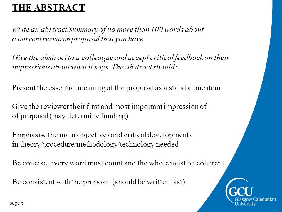 page 6 Summary of Research for the lay person Take the abstract you have written and re-write it in everyday language as a summary for a lay member of the public.