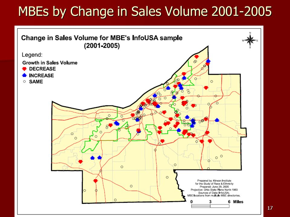17 MBEs by Change in Sales Volume 2001-2005