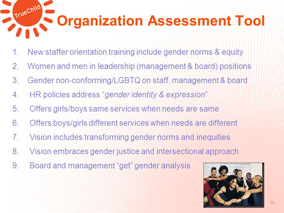 Organization Assessment Tool 13 1.
