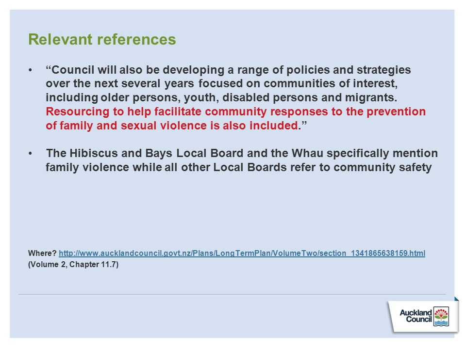 "Relevant references ""Council will also be developing a range of policies and strategies over the next several years focused on communities of interest"